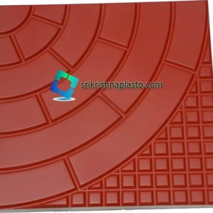 Half Round Designer Concrete Tiles Rubber Mould - Designer Concrete Tiles Plastic Mould Concrete Floor Tiles rubber Mould