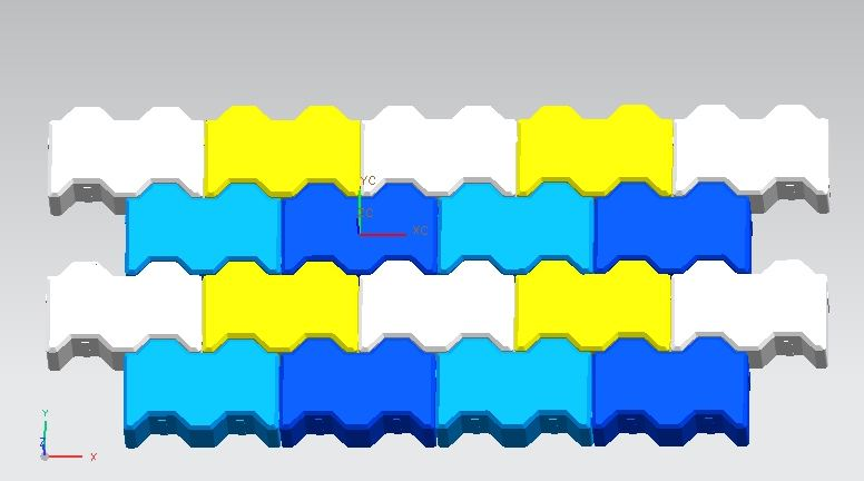 New Zigzag Paver Rubber Mould